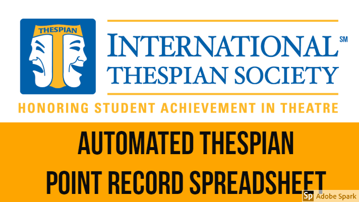 Automated Thespian Point Record Spreadsheet